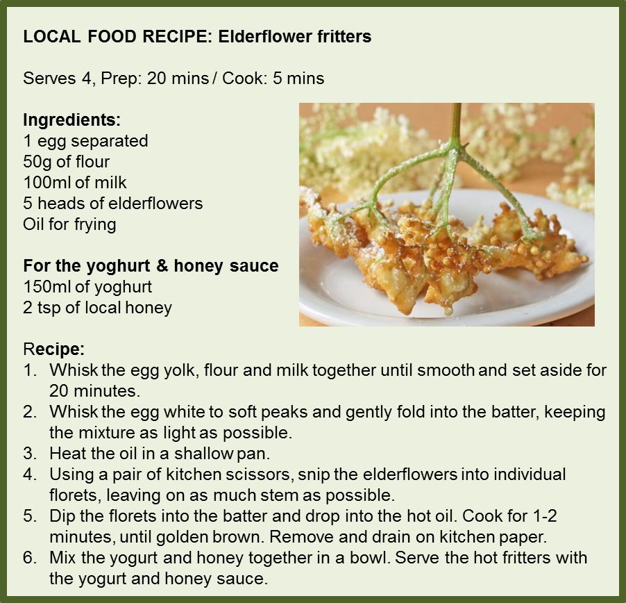 Elderflower fritters
