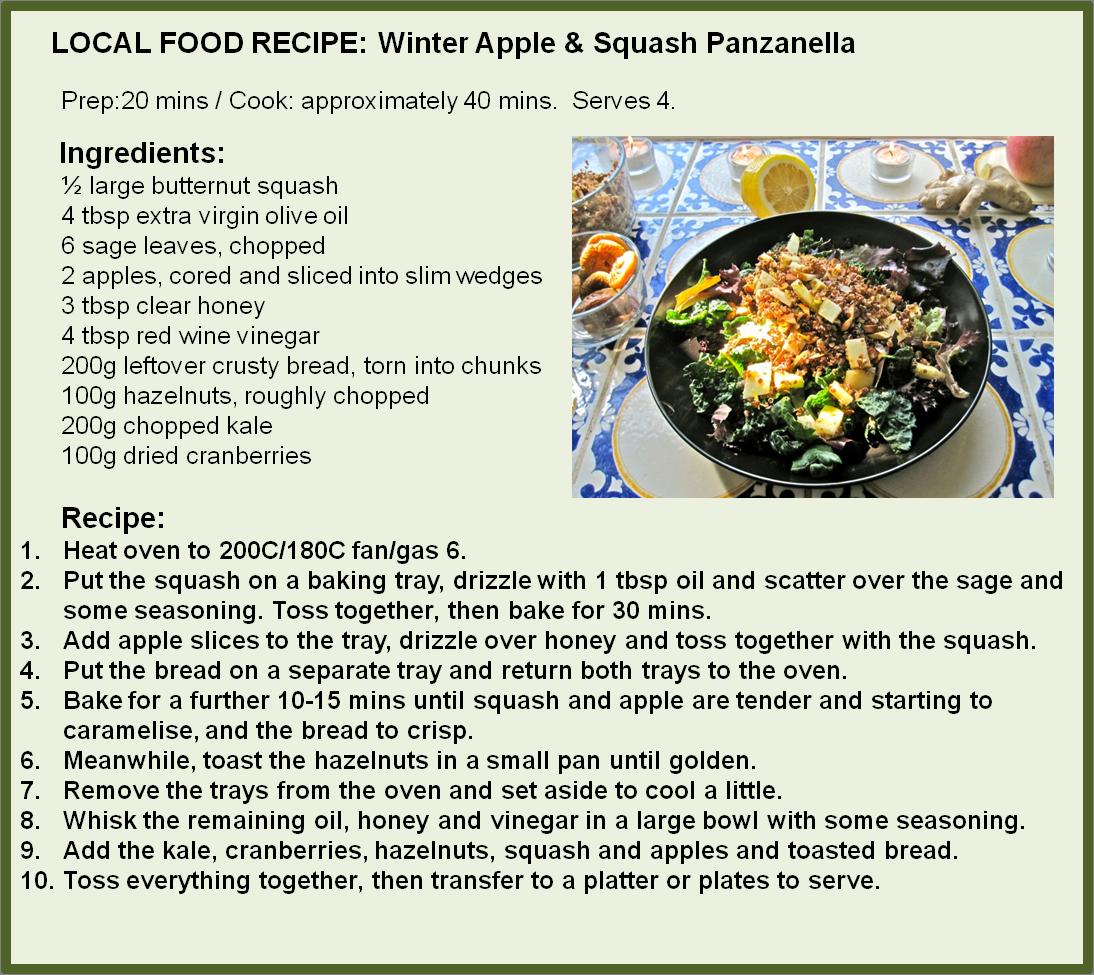 Winter Apple and Squash Panzanella